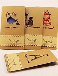 Non personnalisés Pliée Invitations de mariage Cartes d'anniversaire-1 Pièce/Set Monogramme Papier parchemin Nœud