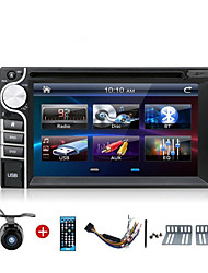 2 din finestre lettori DVD dell'automobile di CE 6.0 OS autoradio universale 6,2 pollici nel cruscotto bt video stereo SWC