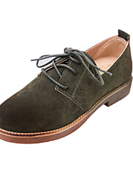 Damen-Flache Schuhe-Lässig-Kunststoff-Flacher Absatz-Komfort-Schwarz Braun Grün Khaki