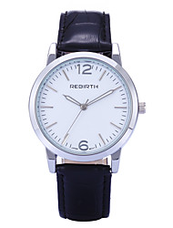 REBIRTH® Brand Women's Simple Fashion PU Leather Strap Quartz Wrist Watch
