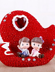 Romantic Resin Couple Piggy Bank Crafts Ornaments (Random Colors)