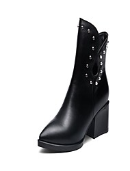 Women's Boots Fall / Winter Fashion Boots / Bootie / Comfort / Novelty / Styles / Pointed Toe / Closed Toe Cowhide /