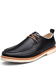 Men's Business Breathable Genuine Leather Flats Shoes  for Trip Or Party