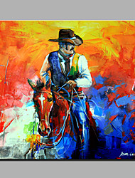 Single Modern Abstract Pure Hand Draw Ready To Hang Decorative The Man On Horseback Oil Painting
