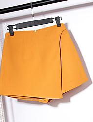 Pantalon Aux femmes Short simple Lin Micro-élastique