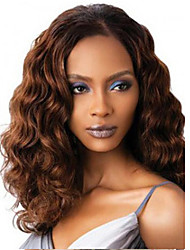 Middle Part Brown Curly Long Length Hot Fashion Synthetic for Europen and American Women