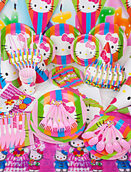 Birthday Party Accessories-1Piece/Set Horns Tag Hard Card Paper Garden Theme Pyramid Non-personalised