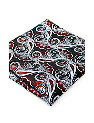 100% Silk Gray Paisley New Men's Pocket Square Jacquard Woven For Men Handkerchief Dress Business