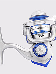Metal & Plastic  Fishing Spinning Reels 6 Ball Bearings  Exchangable Handle-MN500A