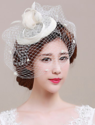 Damen Tüll Flachs Kopfschmuck-Hochzeit Besondere Anlässe Kopfschmuck Netzschleier 1 Stück