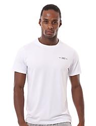 Corrida Camiseta / Pulôver Homens Manga Curta Respirável / Secagem Rápida / Redutor de Suor / Confortável Nailom / Náilon Chinês Corrida