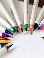 Japan Platinum Color Soft Brush Calligraphy Brush Cartoon Soft Green Brushes