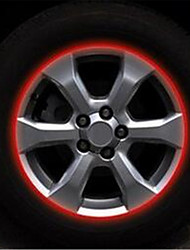 A 17 Inch Wheel Car Tire On Behalf Of 10mm Reflective Ring Sticker / Wheel 7-2D\444