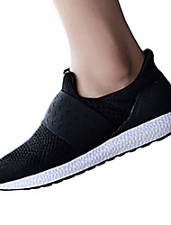 Unisex Athletic Shoes Fall Tulle Casual Flat Heel Black Red Royal Blue Fitness & Cross Training