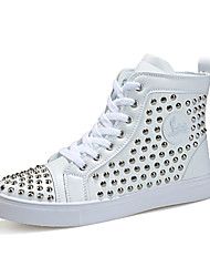 Plus Size Men's Fashion Trend High-top Casual Boots Decorated with Rivets for Trip/Hip-hop
