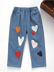 Girl's Casual/Daily Print Pants / Jeans,Cotton Spring / Fall Blue