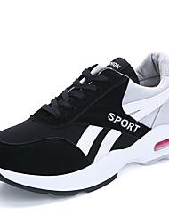 Da donna-Sneakers-Sportivo-Comoda-Piatto-Tulle-Rosso / Grigio