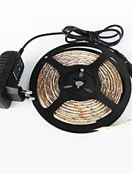 z®zdm étanche 5m 300x3528 blanc lumière blanche / chaud led eu / us / uk AC110-240V à dc12v2a transformateur