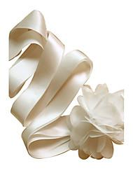 Satin Hochzeit / Party / Abend / Alltagskleidung Schärpe-Blumen Damen 250cm Blumen