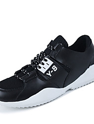 Herren-Sneaker-Lässig-PU-Flacher Absatz-Komfort-Schwarz / Rot / Grau