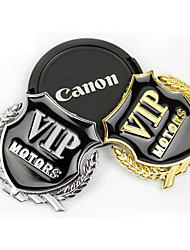 VIP 3D Stickers Car Personality Modification Shield Side Mark Trademark Decorative Metal Grain