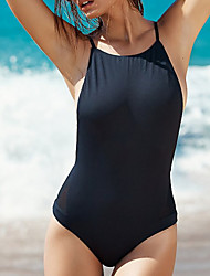 Women's  Cut Out Backless One Piece Monokini Swimsuit