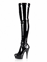 Stage boots Women's Boots Spring/Fall/Winter Heels/Platform/Fashion Boots Patent Leather/Dress Stiletto Heel/banquet