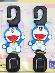 multifonction voiture en arrière crochet dessin animé crochet siège auto gant de voiture crochet deux chargés