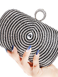 L.west Women Elegant High-grade Water Droplets Diamonds Evening Bag