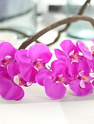 1 1 Ramo Poliéster Orquideas Flor de Mesa Flores artificiais 72cm