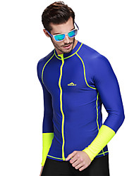 Men Diving Surfing Rashguards Shirt Swim Snorkeling Tops Long Sleeve Swimwear Wetsuit Zipper