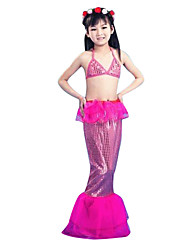 Cosplay Costumes Party Costume Mermaid Tail Fairytale Festival/Holiday Halloween Costumes Red Pink Blue Vintage Top TailHalloween