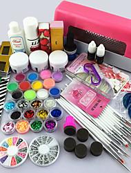 68pcs praktischen nailproducts UV Gel Lampe Nagelkunstwerkzeug-Sets Maniküre-Set