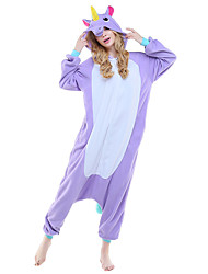 Kigurumi Pajamas Unicorn Leotard/Onesie Festival/Holiday Animal Sleepwear Halloween Pink Blue Purple Animal Print Polar Fleece Kigurumi