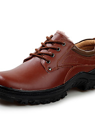 Men's Oxfords Winter Comfort / Round Toe Leather Outdoor / Casual Flat Heel Others / Lace-up Black / Coffee Others