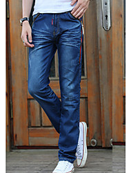 Men's Solid Casual Jeans,Cotton Blue