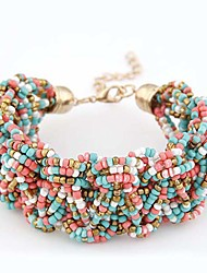 6 Colors Bohemia Elegant Fashion Multilayers Beads Charms Bracelets  Women Jewelry Accessories