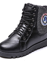 Women's Boots Spring / Fall / Winter Comfort Leather Outdoor / Athletic / Casual Low Heel  Black / Brown / Red Snow