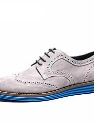 Синий / Серый Мужская обувь Для прогулок / Для офиса / На каждый день Замша Туфли на шнуровке