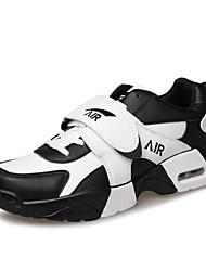 Herren-Sneaker-Sportlich-PU-Flacher Absatz-Komfort-Schwarz / Weiß