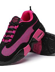 Da donna-Sneakers-Casual / Sportivo-Ballerine-Piatto-Tessuto-Nero / Rosso