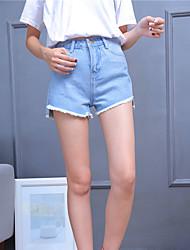 Damen Hose - Einfach Kurze Hose / Jeans Kunstseide Unelastisch