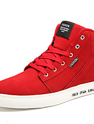 Herren-Sneaker-Lässig Sportlich-Wildleder-Flacher Absatz-Komfort-Schwarz Blau Rot