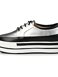 Women's Flats Fall / Winter Flats PU Athletic / Casual Flat Heel p Silver Walking