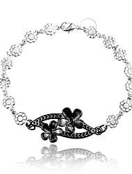 2016 Inifinty Flower  925 Sterling Silver Black Luxury Specially Bracelets For Women