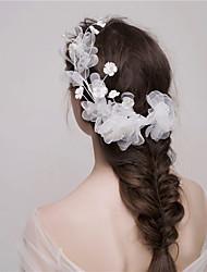 MISS DIVA Women's Tulle Headpiece Flowers 1 Piece Pink / White Flower 58