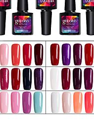Modelones 5Pcs UV Gel Nail Polish Soak Off Colors Gel Nail Art Tools Manicure