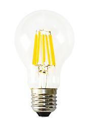 8W E26/E27 Ampoules à Filament LED B 8 COB 640-800 lm Blanc Chaud Décorative AC 100-240 V 1 pièce
