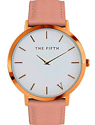 he fifth Quartz Watch Men Women Famous Brand Gold Leather Band Wrist Watches Relojes Montre Homme