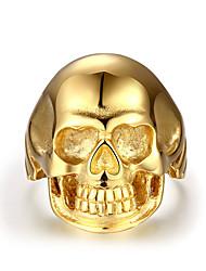 Кольца Без камня В форме черепа Halloween Для вечеринок Повседневные Новогодние подарки Бижутерия Сталь Мужчины Кольцо 1шт,8 9 10 11